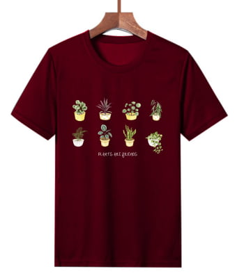 Camiseta Estampada Plants Are Friends